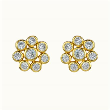 50577 American Diamond Tops with gold plating