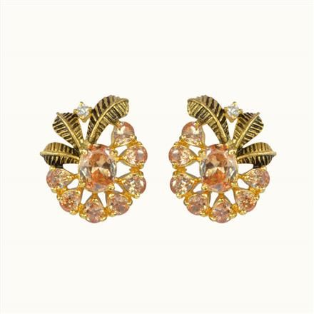 50588 American Diamond Tops with gold plating