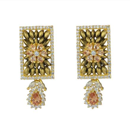 50594 CZ Delicate Earring with gold plating