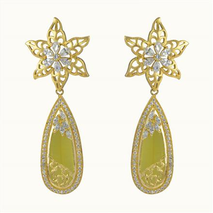 50605 CZ Classic Earring with gold plating