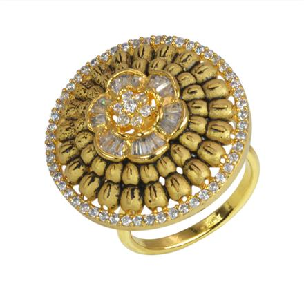 50629 CZ Classic Ring with gold plating