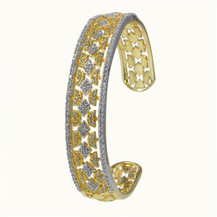 50636 CZ Classic Kada with 2 tone plating
