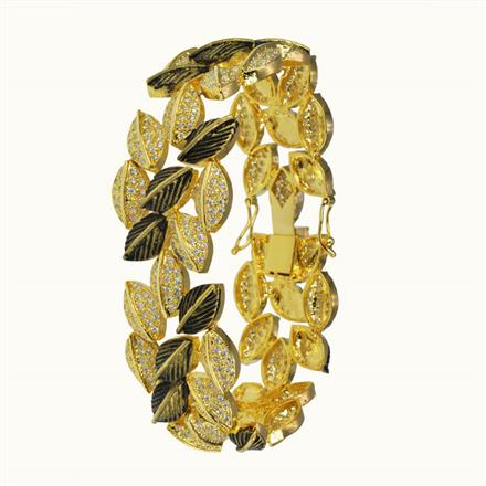 50637 CZ Classic Bracelet with gold plating