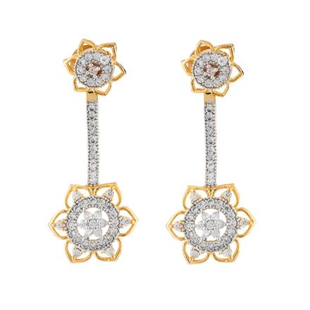 50660 CZ Delicate Earring with 2 tone plating