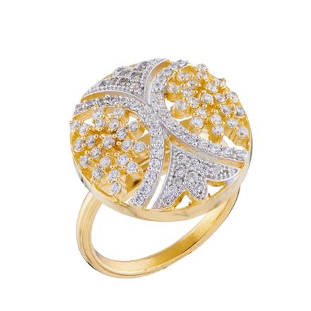 50669 CZ Classic Ring with 2 tone plating
