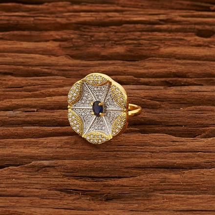 50677 CZ Classic Ring with 2 tone plating