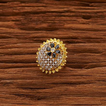 50679 CZ Classic Ring with 2 tone plating