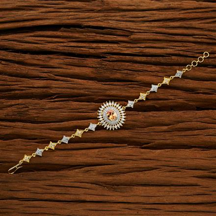 50704 CZ Delicate Bracelet with 2 tone plating