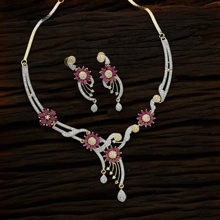 50707 CZ Classic Necklace with 2 tone plating