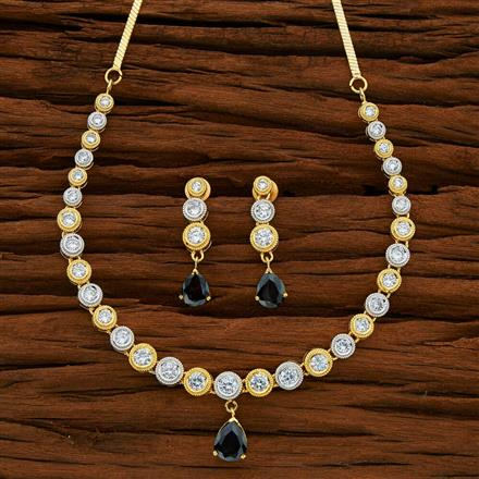 50708 CZ Classic Necklace with 2 tone plating