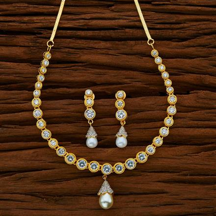 50711 CZ Classic Necklace with 2 tone plating