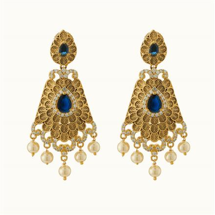 50722 CZ Classic Earring with gold plating