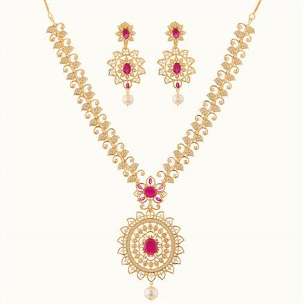 50750 CZ Classic Necklace with gold plating