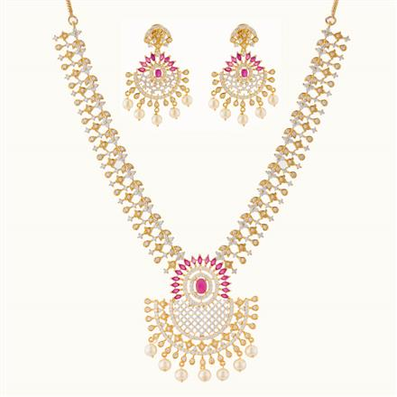 50754 CZ Classic Necklace with gold plating