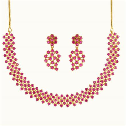 50759 CZ Delicate Necklace with gold plating