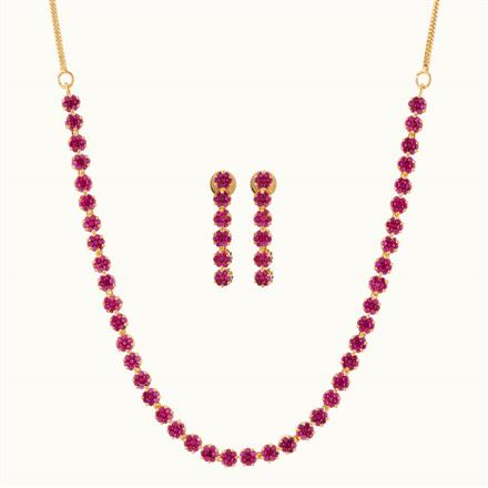 50768 CZ Delicate Necklace with gold plating