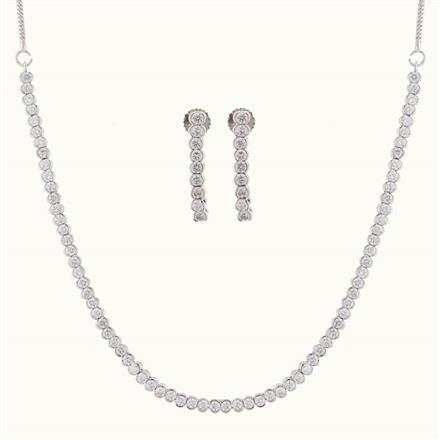 50772 CZ Delicate Necklace with gold plating