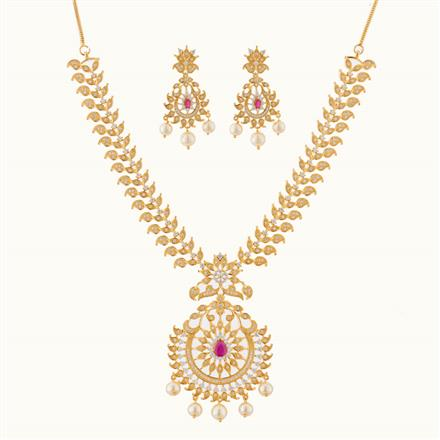 50779 CZ Classic Necklace with gold plating