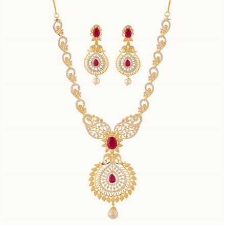 50780 CZ Classic Necklace with gold plating