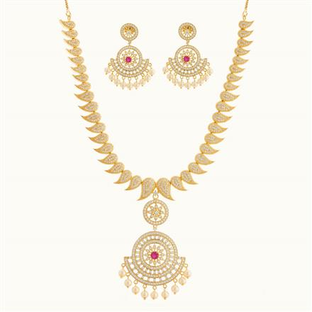 50781 CZ Classic Necklace with gold plating