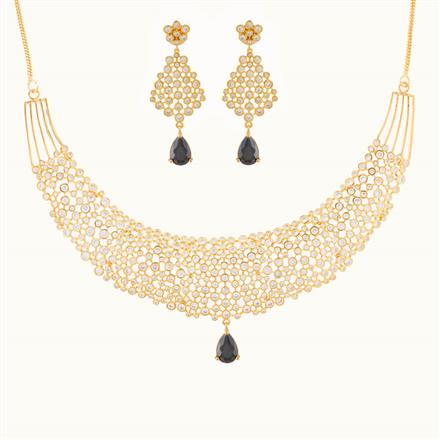 50787 CZ Classic Necklace with gold plating
