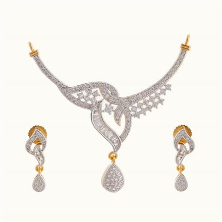 50807 CZ Classic Mangalsutra with 2 tone plating