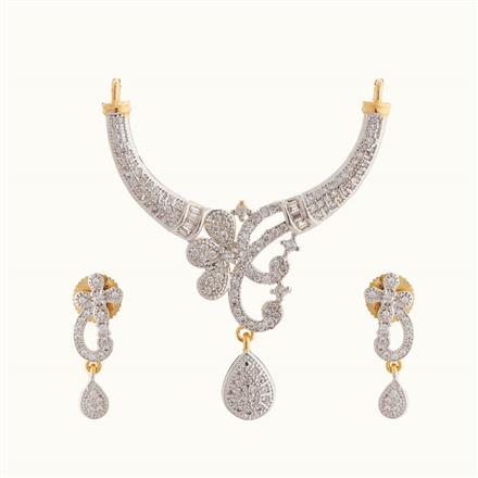 50808 CZ Classic Mangalsutra with 2 tone plating