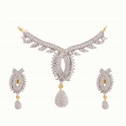 50809 CZ Classic Mangalsutra with 2 tone plating
