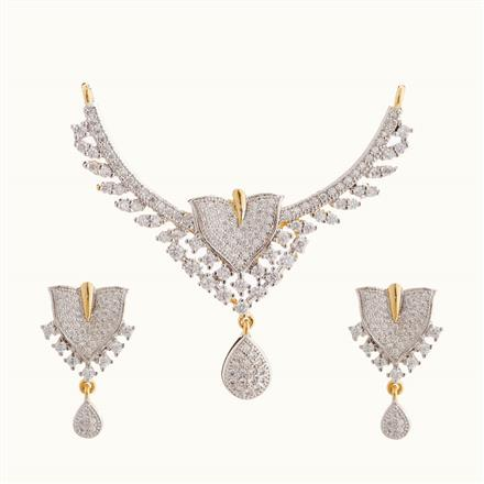 50810 CZ Classic Mangalsutra with 2 tone plating