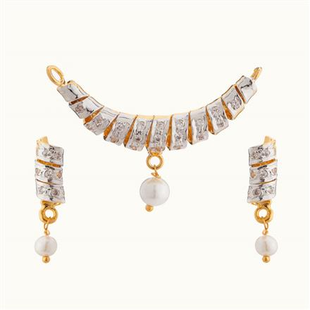 50811 CZ Classic Mangalsutra with 2 tone plating