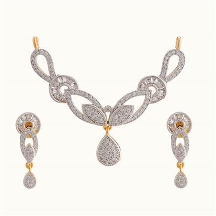 50812 CZ Classic Mangalsutra with 2 tone plating