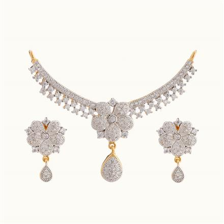 50813 CZ Classic Mangalsutra with 2 tone plating