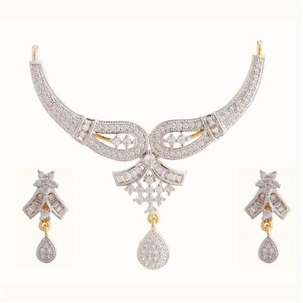 50815 CZ Classic Mangalsutra with 2 tone plating