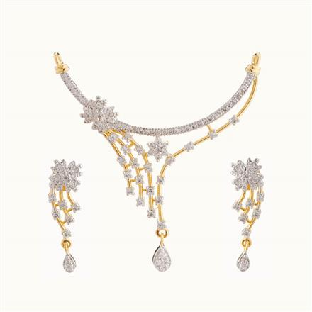 50817 CZ Classic Mangalsutra with 2 tone plating