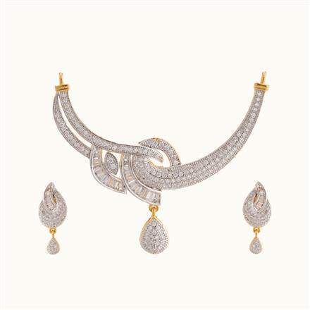 50818 CZ Classic Mangalsutra with 2 tone plating