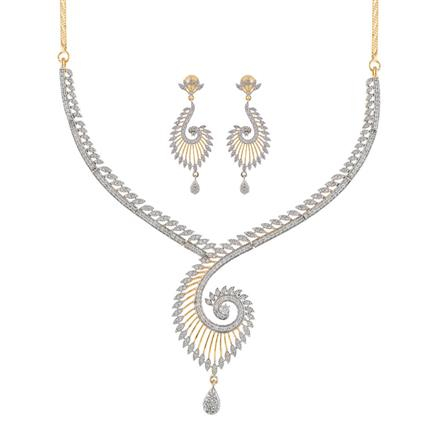 50900 CZ Classic Necklace with 2 tone plating
