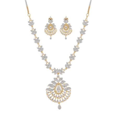 50903 CZ Classic Necklace with 2 tone plating