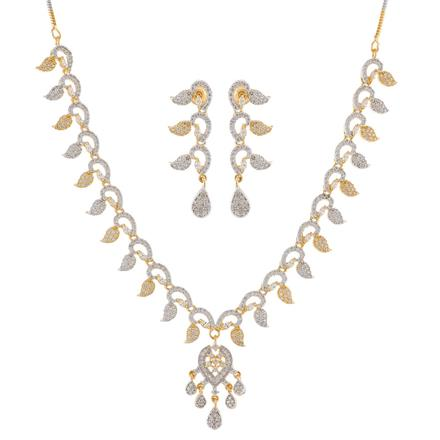 51000 CZ Classic Necklace with 2 tone plating