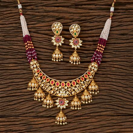510017 Kundan Classic Necklace With Gold Plating