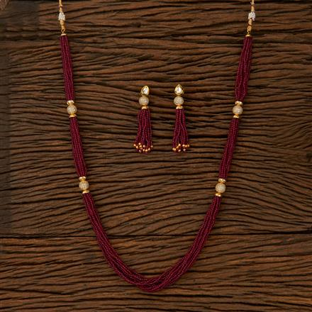 510023 Kundan Classic Necklace With Gold Plating