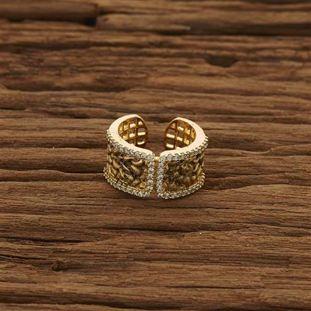51333 CZ Classic Ring with gold plating