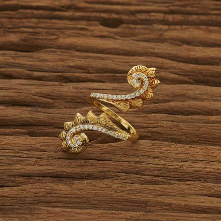 51337 CZ Classic Ring with gold plating