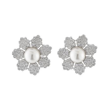 51551 American Diamond Tops with rhodium plating