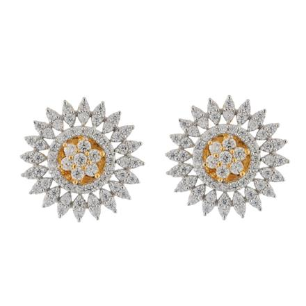 51555 American Diamond Tops with 2 tone plating