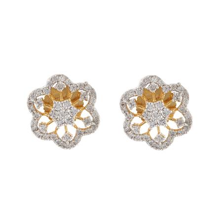 51575 American Diamond Tops with 2 tone plating