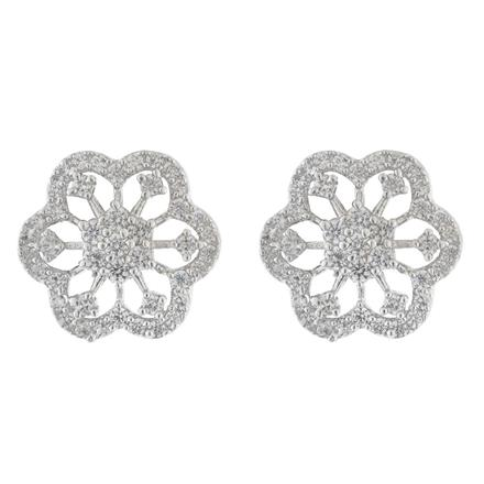 51576 American Diamond Tops with rhodium plating