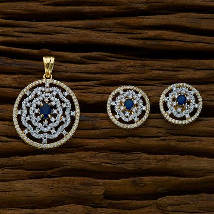 51666 CZ Classic Pendant Set with 2 tone plating
