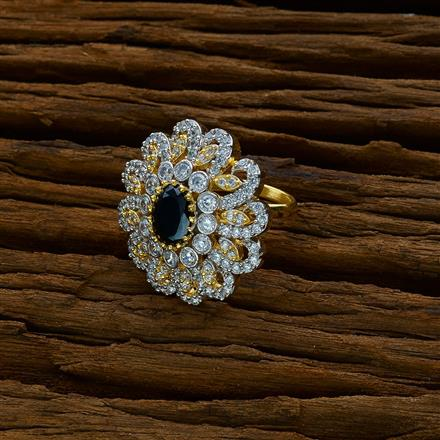 51749 CZ Classic Ring with 2 tone plating