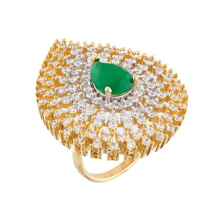 51750 CZ Classic Ring with 2 tone plating