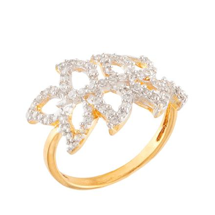 51760 CZ Classic Ring with 2 tone plating